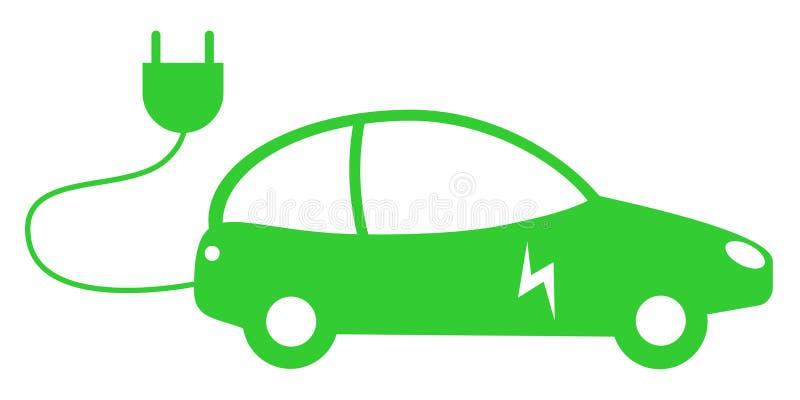 Zielony elektrycznego samochodu pojęcie royalty ilustracja