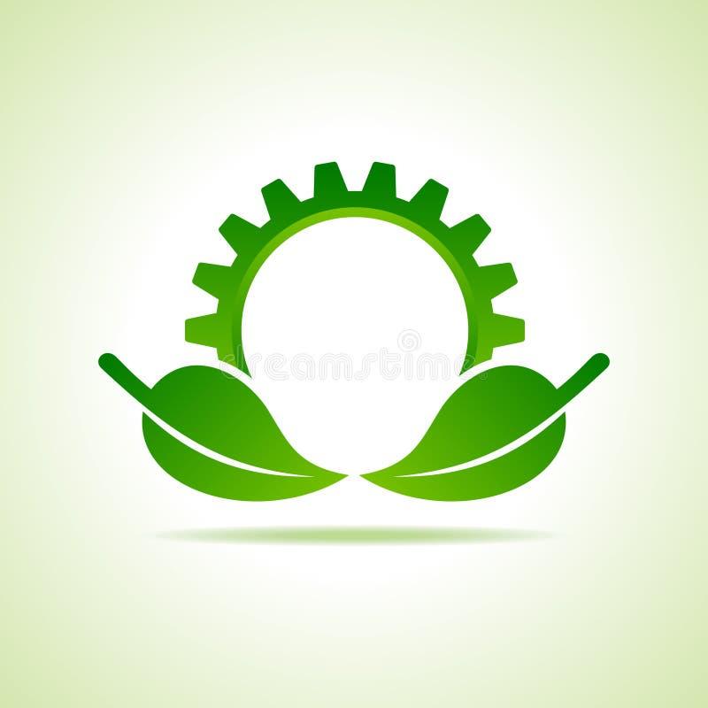 Zielony energetyczny części ikony projekta pojęcie ilustracja wektor