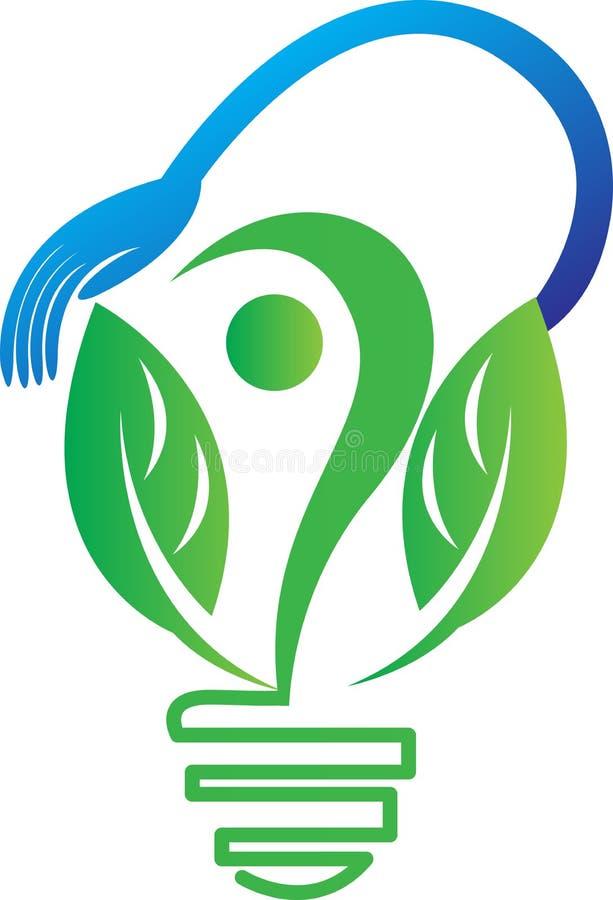 Zielony energetyczny pojęcie royalty ilustracja