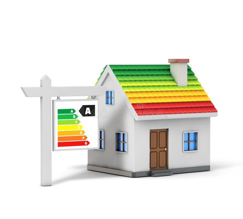 Zielony energetyczny prosty dom royalty ilustracja