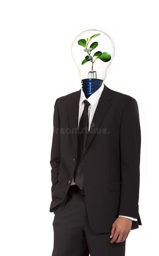 Zielony energetyczny symbol obraz stock
