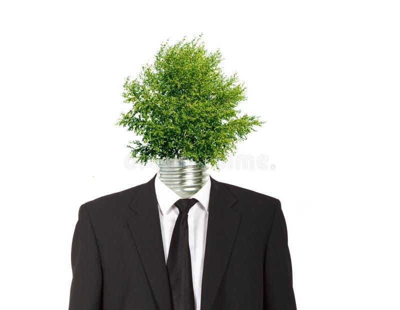 Zielony energetyczny symbol zdjęcie stock