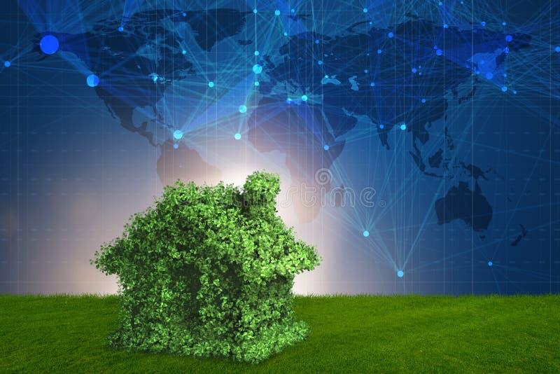 Zielony energia domu pojęcie - 3d rendering ilustracji