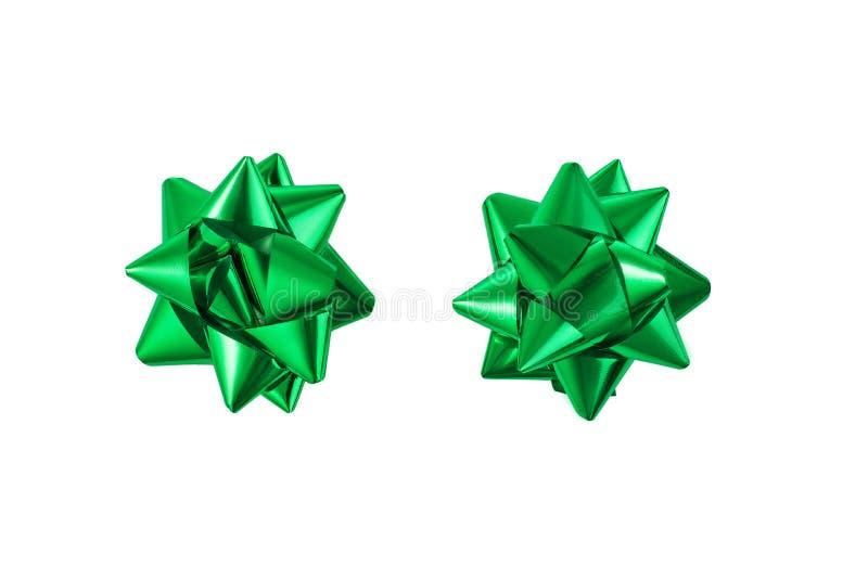 Zielony faborek odizolowywający na biały tle obrazy royalty free