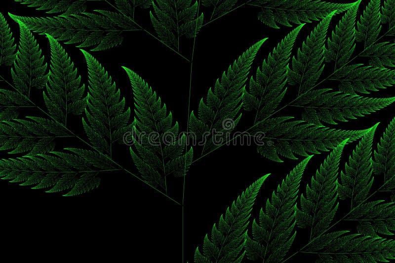 Zielony fractal tło obraz royalty free