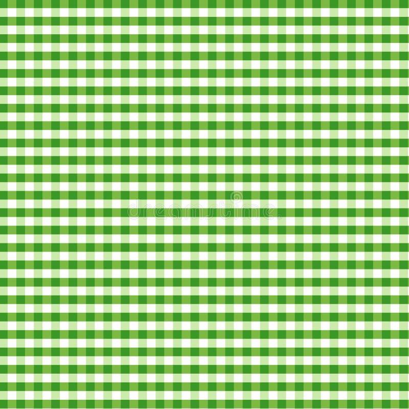 zielony gingham bezszwowy ilustracji