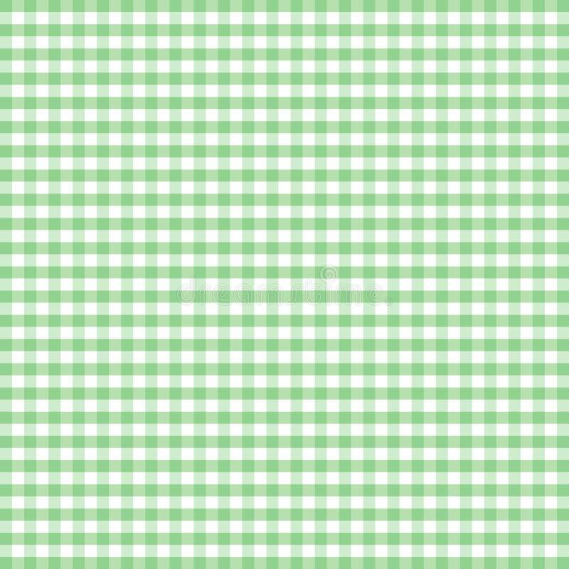 zielony gingham pastelowy bezszwowy royalty ilustracja