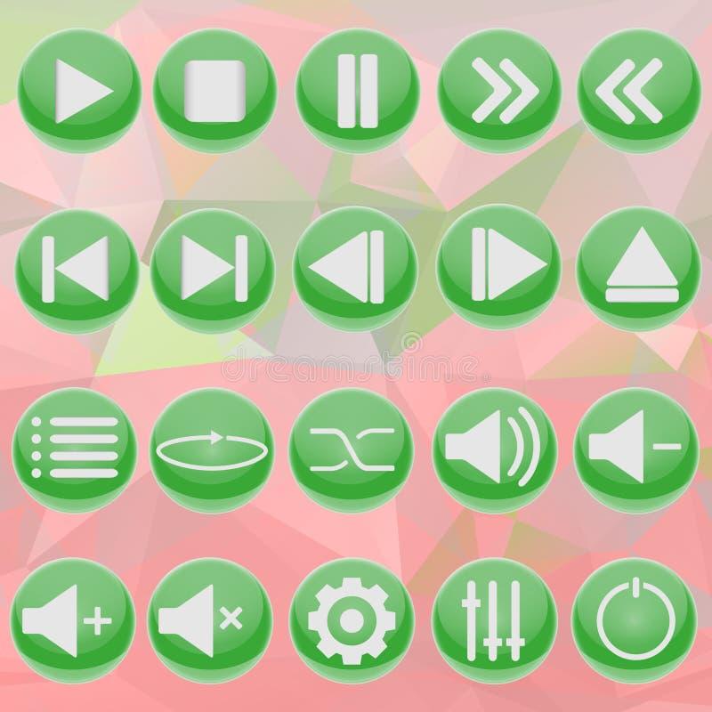 Zielony gracz na abstrakcjonistycznym tle zdjęcia royalty free