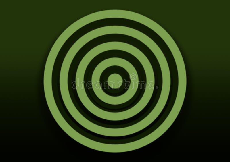 Zielony gradientowy tło z spiralą dla tapety ilustracja wektor
