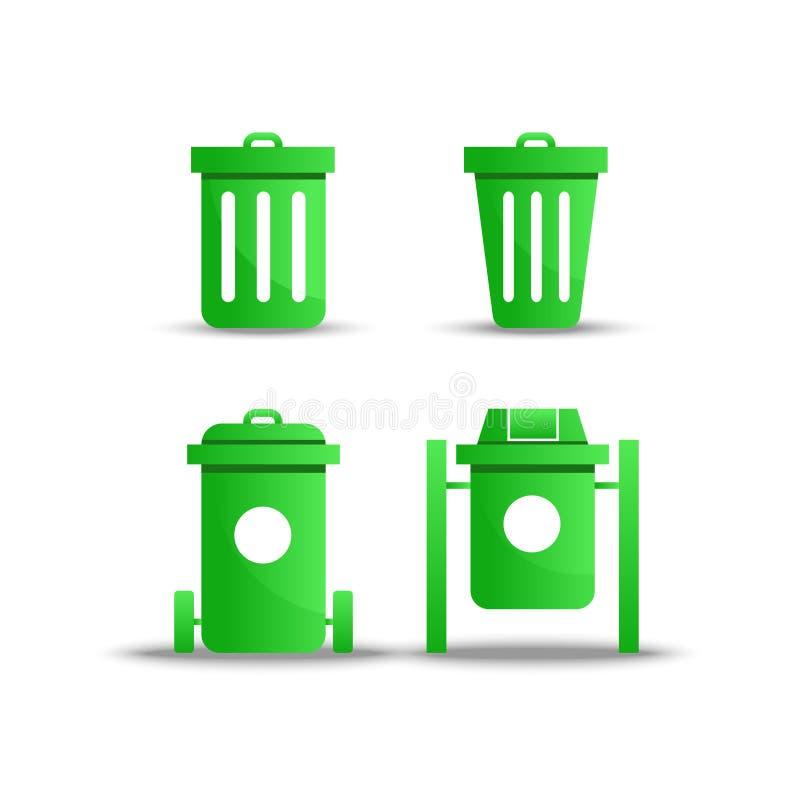 Zielony grat ikony wektor na białym tle royalty ilustracja