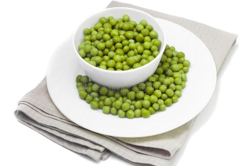 zielony groszek zachowania zdjęcia stock