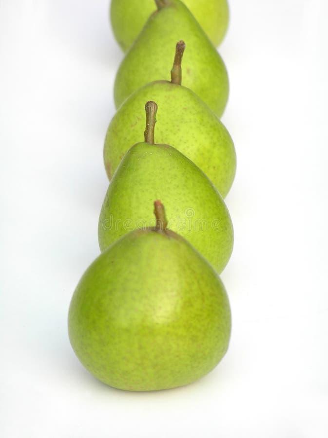 zielony gruszka rząd zdjęcia stock