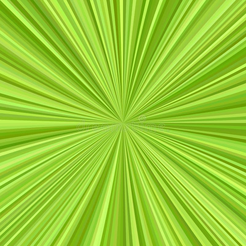 Zielony gwiazdowy wybuchu tła projekt royalty ilustracja