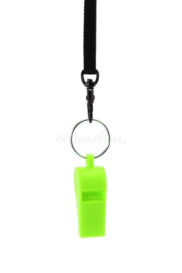 zielony gwizdek obrazy stock