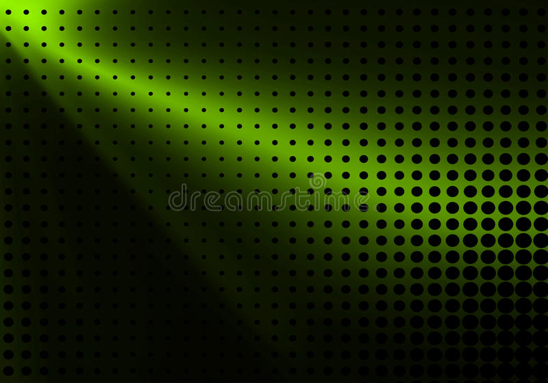 Zielony halftone tło ilustracja wektor
