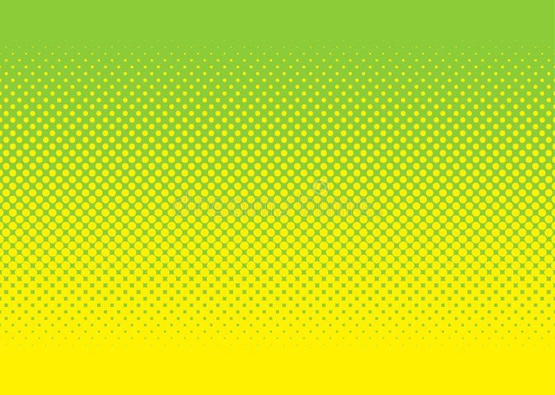 zielony halftone wzoru kolor żółty royalty ilustracja