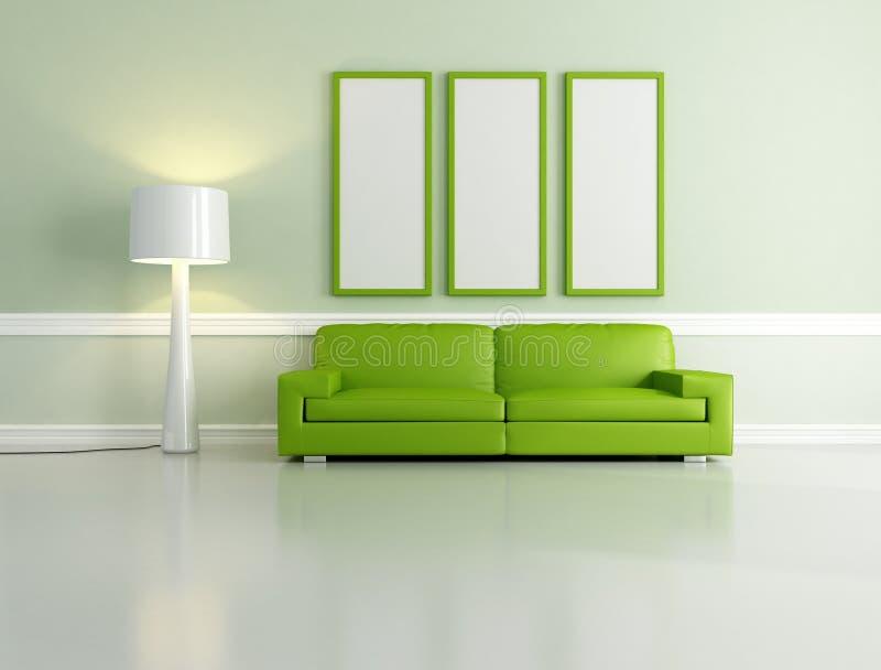 zielony hol ilustracji