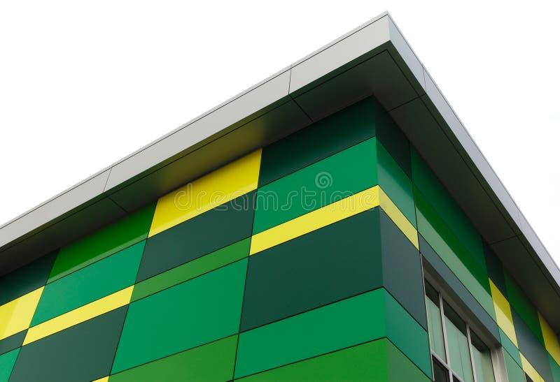 Zielony i żółty budynku tło zdjęcie stock
