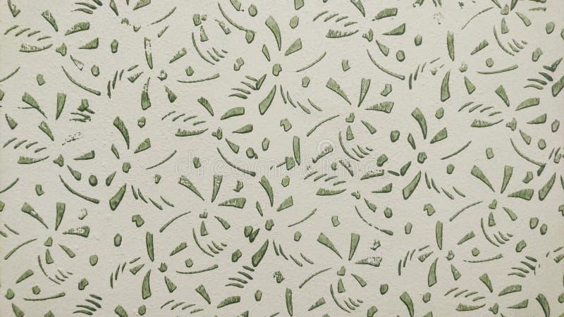Zielony i biały obraz na ścianie obraz royalty free