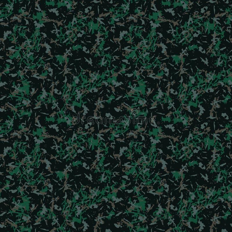Zielony i brown ciemny lasowy kamuflaż ilustracja wektor