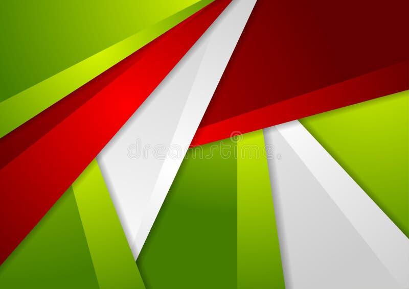 Zielony i czerwony abstrakcjonistyczny korporacyjny materialny tło ilustracji