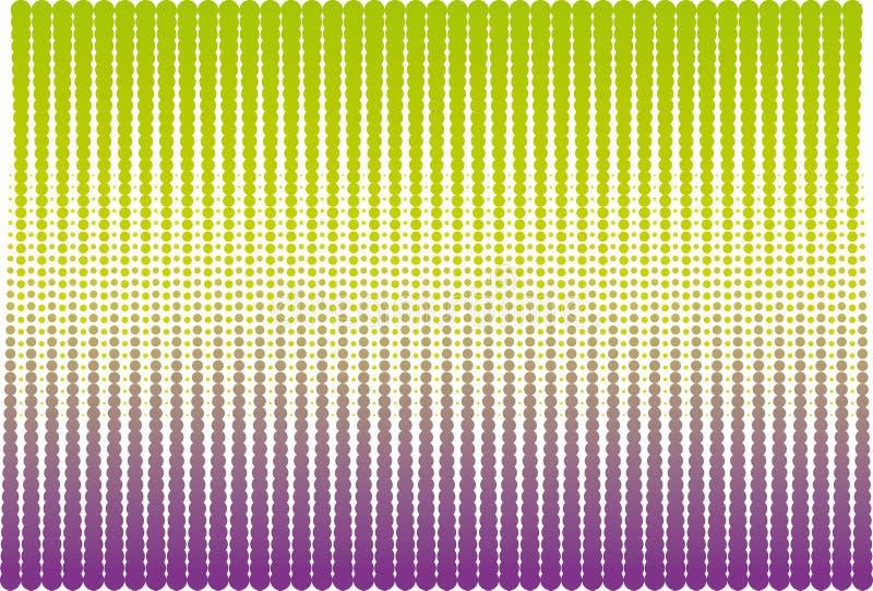 Zielony i fiołkowy halftone royalty ilustracja