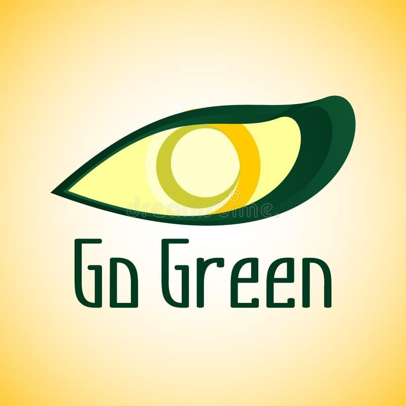zielony idzie logo zdjęcia stock
