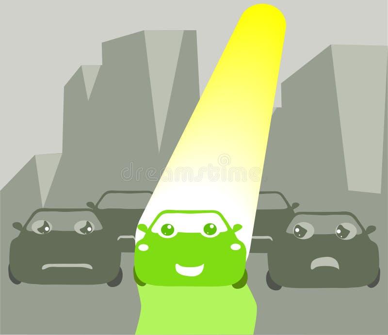 zielony idzie szczęśliwy ilustracji