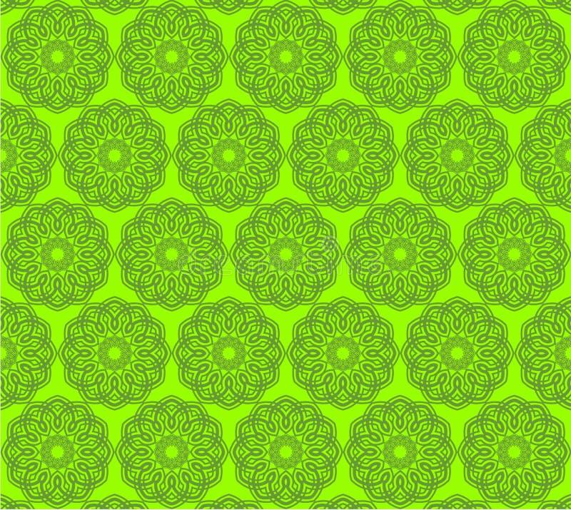 zielony islamski wzór obrazy stock