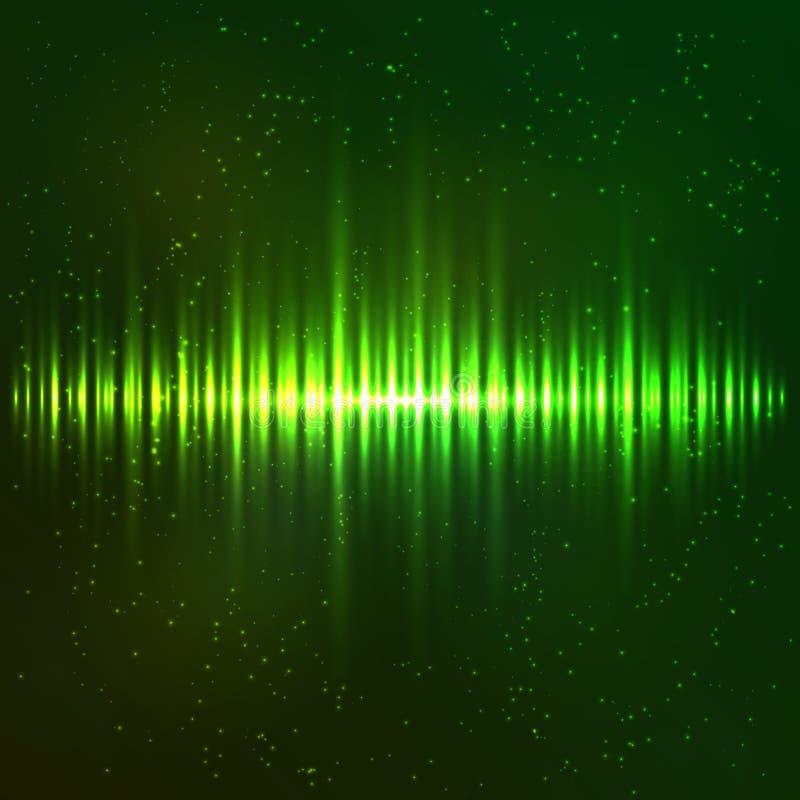 Zielony jaśnienia światła wektoru wyrównywacz royalty ilustracja