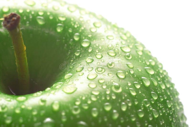 Zielony jabłczany macro fotografia royalty free