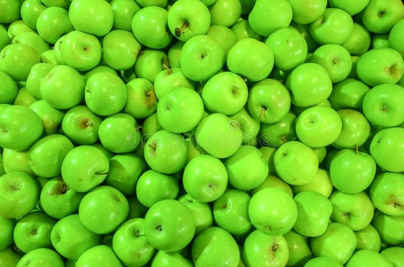Zielony jabłczany tło fotografia royalty free