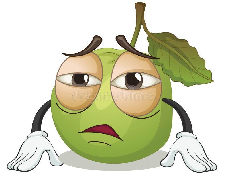 Zielony jabłko royalty ilustracja