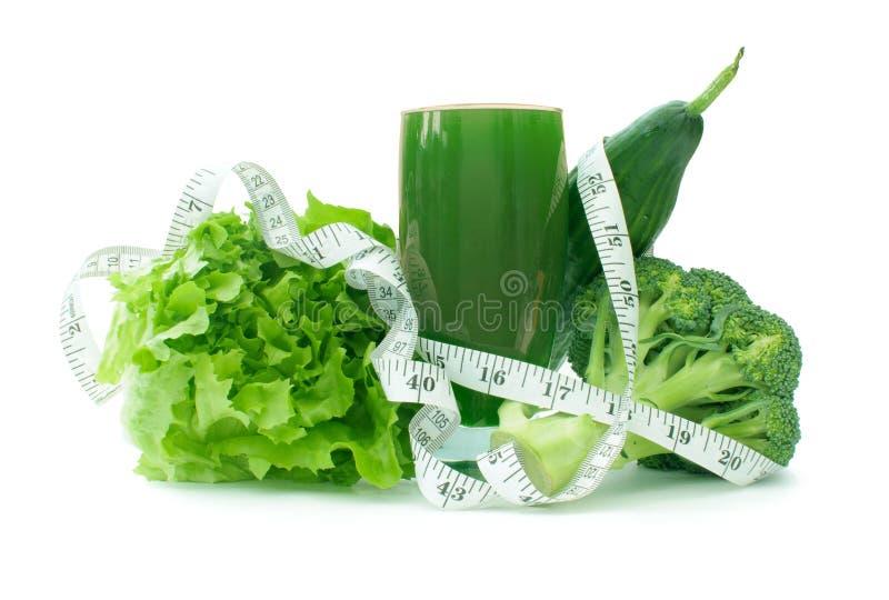 Zielony jarzynowy smoothie obraz stock