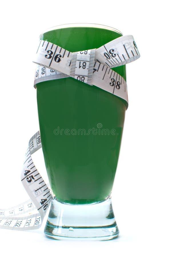 Zielony jarzynowy smoothie napój obraz royalty free