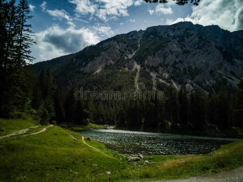 Zielony Jeziorny Austria obrazy stock