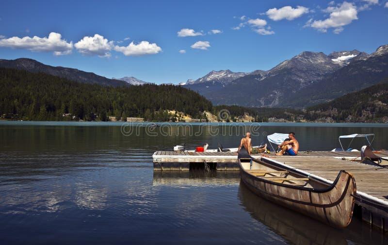Zielony jezioro, BC, Kanada zdjęcie royalty free