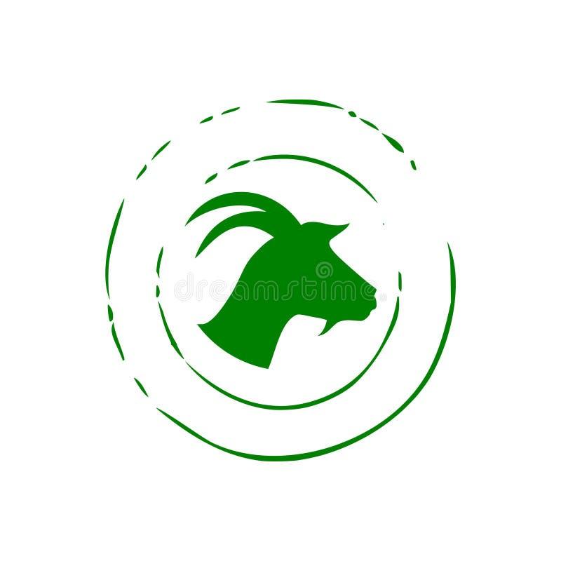 Zielony kózka znaczek ilustracji