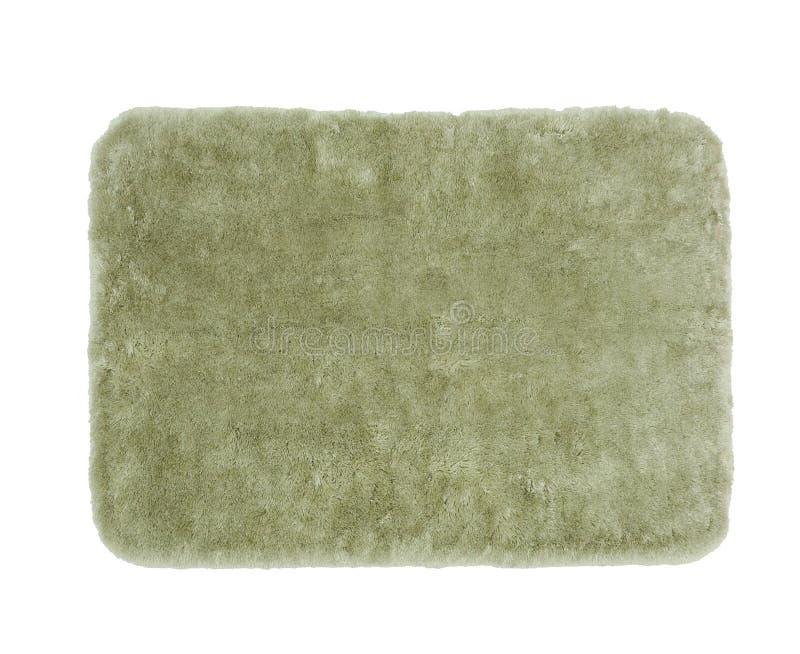 Zielony kąpielowy dywanik zdjęcie stock