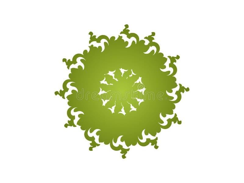 zielony kalejdoskop ilustracja wektor