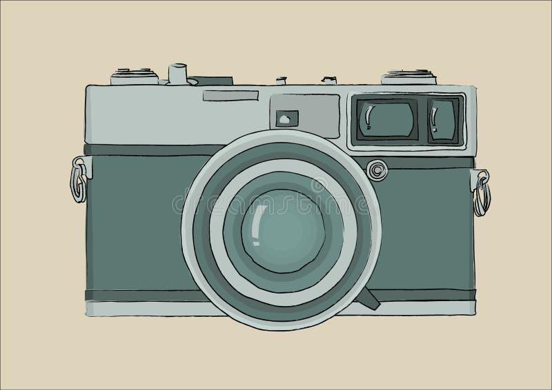 zielony kamera rocznik fotografia royalty free