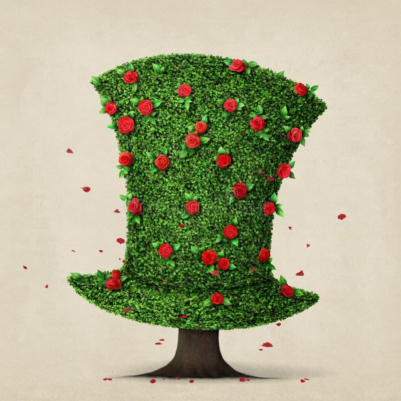 zielony kapelusz ilustracja wektor