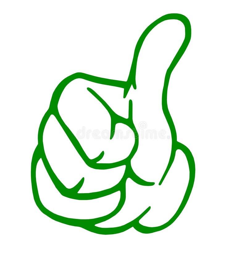 zielony kciuk ilustracji
