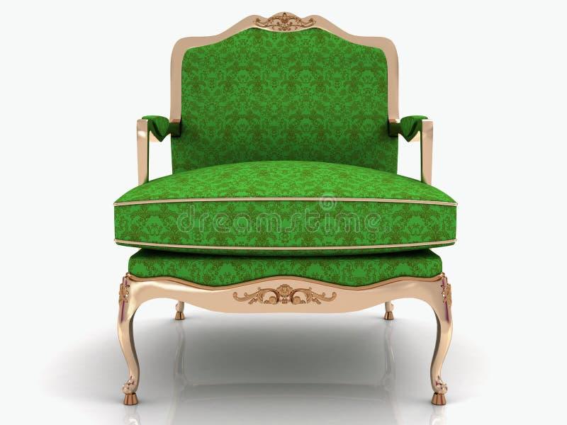 Zielony klasyczny elegancki karło ilustracja wektor