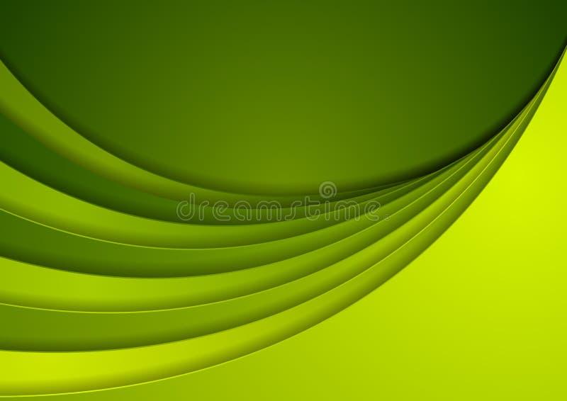 Zielony korporacyjny falisty abstrakcjonistyczny tło royalty ilustracja