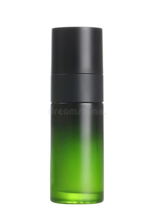 Zielony kosmetyczny zbiornik zdjęcie stock