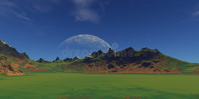 zielony krajobraz ilustracji
