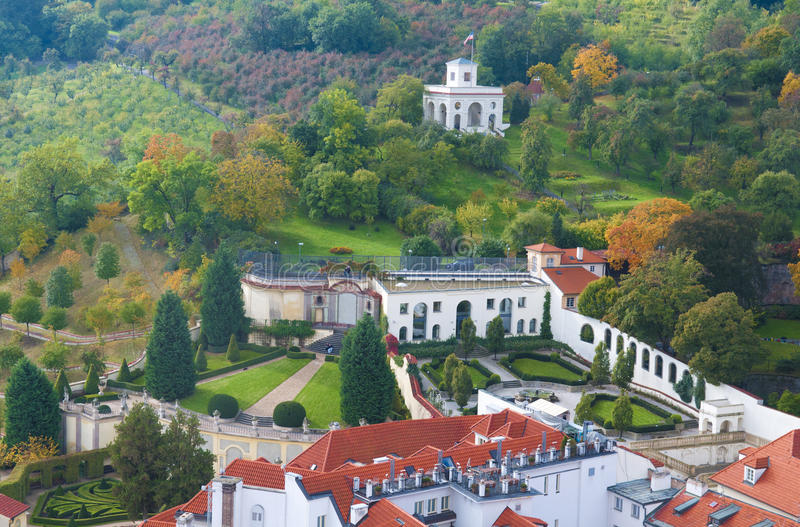 zielony krajobrazowy Prague obrazy stock