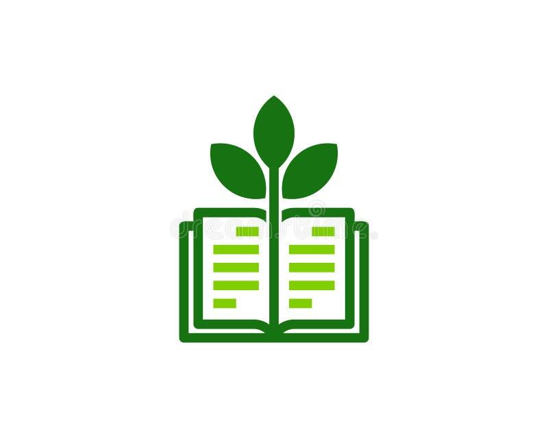 Zielony Książkowy logo ikony projekt ilustracji