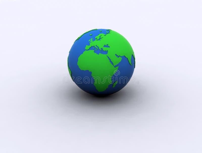 zielony kula ziemska świat ilustracja wektor